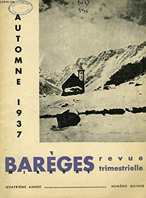 BAREGES, N° 15, AUTOMNE 1937: COLLECTIF
