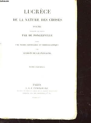 BIBLIOTHEQUE LATINE-FRANCAISE EN DEUX TOMES - LUCRECE DE LA NATURE DES CHOSES: PANCKOUCKE