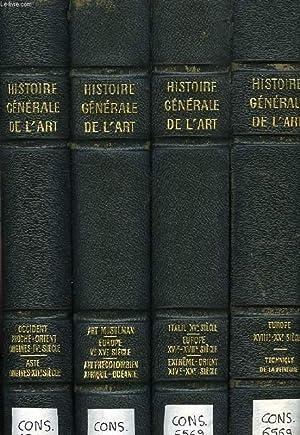 HISTOIRE GENERALE DE L'ART, 4 TOMES: COLLECTIF