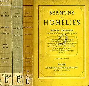 SERMONS ET HOMELIES, 3 TOMES: DHOMBRES ERNEST