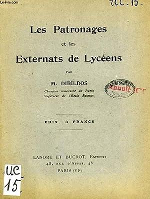 LES PATRONAGES ET LES EXTERNATS DE LYCEENS: DIBILDOS M.