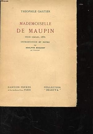MADEMOISELLE DE MAUPIN: THEOPHILE GAUTIER