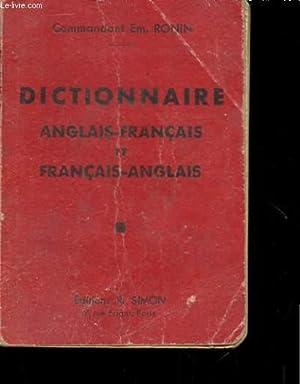 DICTIONNAIRE ANGLAIS-FRANCAIS ET FRANCAIS-ANGLAIS: COMMANDANT EM. RONIN