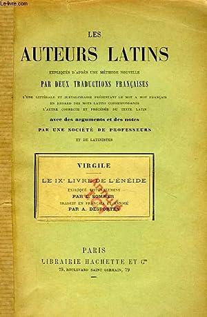 LES AUTEURS LATINS EXPLIQUES PAR UNE METHODE NOUVELLE, PAR DEUX TRADUCTIONS FRANCAISES, VIRGILE, ...