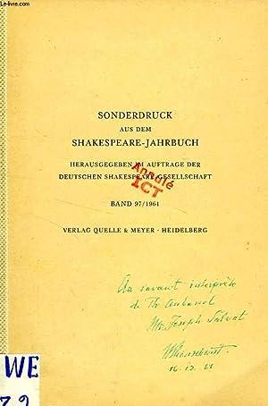 DER MANIERISMUS IN DER DICHTUNG SHAKESPEARES: Frhrn. KLEINSCHMIT V. LEGENFELD