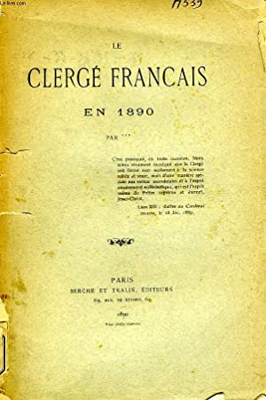 LE CLERGE FRANCAIS EN 1890: COLLECTIF