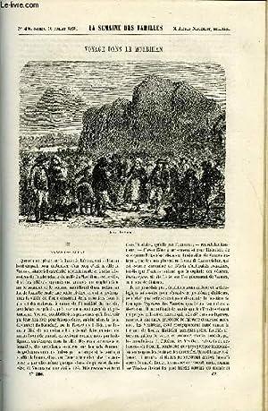 LA SEMAINE DES FAMILLES 1ERE ANNEE N° 42 - VOYAGE DANS LE MORBIHAN III DE ALFRED NETTEMENT, ...