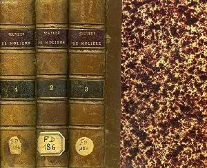 OEUVRES COMPLETES DE MOLIERE, 3 TOMES: MOLIERE, Par Ch. LOUANDRE