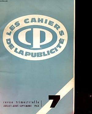 REVUE TRIMESTRIELLE LES CAHIERS DE LA PUBLICITE N°7: COLLECTIF