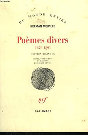 POEMES DIVERS 1876 - 1891.: MELVILLE HERMAN.