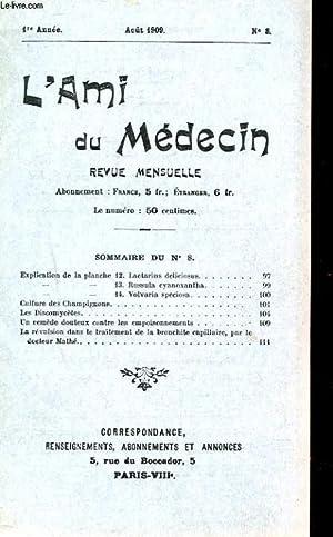 REVUE MENSUELLLE L'AMI DU MEDECIN N°8. CHAMPIGNONS: COLLECTIF