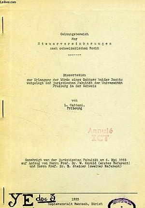 GELTUNGSBEREICH DER STEUERVEREINBARUNGEN NACH SCHWEIZERISCHEM RECHT (DISSERTATION): CATTANI L.