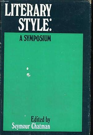 LITERARY STYLE : A SYMPOSIUM: SEYMOUR CHATMAN