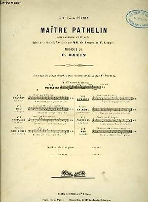 MAITRE PATHELIN N° 5 - ROMANCE: BAZIN, F.