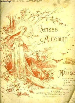 PENSEES D'AUTOMNE N° 2: MASSENET, J.