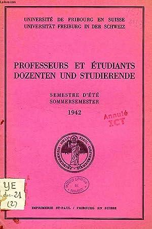 PROFESSEURS ET ETUDIANTS / DOZENTEN UND STUDIERENDE, SEMESTRE D'ETE / SOMMERSEMESTER...