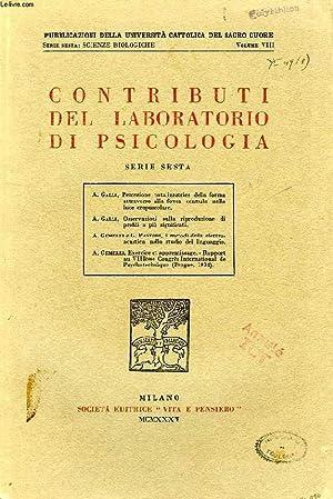 CONTRIBUTI DEL LABORATORIO DI PSICOLOGIA, SERIE SESTA: COLLECTIF