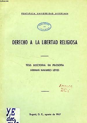 DERECHO A LA LIBERTAD RELIGIOSA: NAVARRO LEYES HERNAN