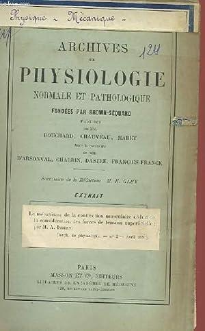 ARCHIVES DE PHYSIOLOGIE NORMALE ET PATHOLOGIQUE FONDEES PAR BROWN-SEQUARD - EXTRAIT: COLLECTIF