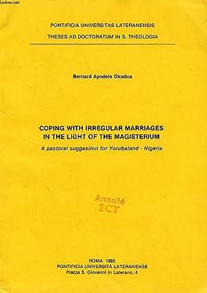COPING WITH IRREGULAR MARRIAGES IN THE LIGHT: AYODELE OKODUA BERNARD