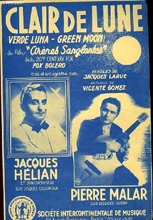 """CLAIR DE LUNE (verde luna - green moon) du film: """"Arènes sanglantes"""" fox bol&..."""