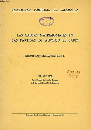 LAS CAUSAS MATRIMONIALES EN LAS PARTIDAS DE ALFONSO EL SABIO: MARTINEZ MARCOS ESTEBAN, C. SS. R.