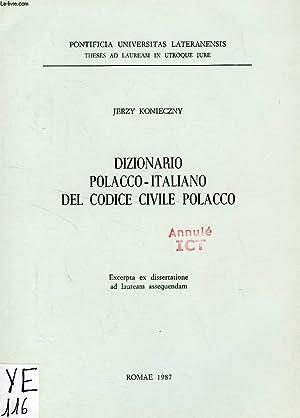 DIZIONARIO POLACCO-ITALIANO DEL CODICE CIVILE POLACCO: KONIECZNY JERZY