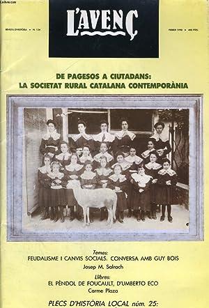 L'AVENC, REVISTA D'HISTORIA, N°134, FEBRER 1990, DOSSIER: COLLECTIF
