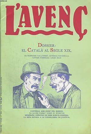 L'AVENC, REVISTA D'HISTORIA, N°27,MAIG 1980, DOSSIER : COLLECTIF