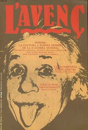 L'AVENC, REVISTA D'HISTORIA, N°21, NOVENBRE 1979, DOSSIER: COLLECTIF