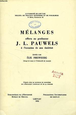 MELANGES OFFERTS AU PROFESSEUR J. L. PAUWELS: NIEUWBORG ELIE