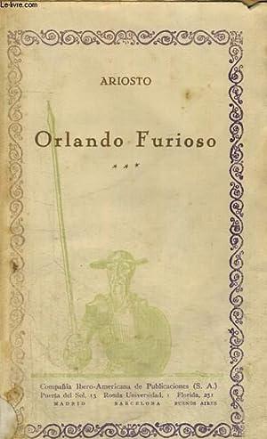 ORLANDO FURIOSO, VOLUMEN III: ARIOSTO