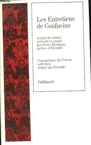 LES ENTRETIENS DE CONFUCIUS. INCOMPLET.: RYCKMANS PIERRE.