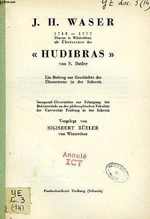 J. H. WASER (1713-1777), 'HUDIBRAS' VON S.: BUELER SIGISBERT