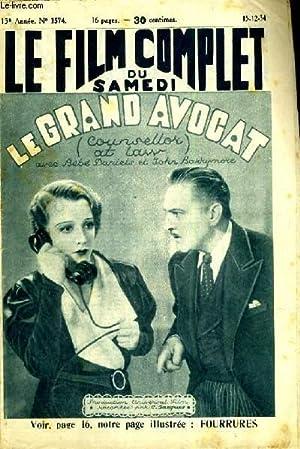 LE FILM COMPLET DU SAMEDI N° 1574. LE GRAND AVOCAT (COURSELLOR AT LASS) avec BEBE DARIELS et JOHN ...