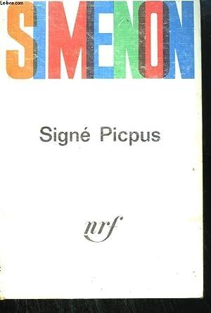 SIGNE PICPUS.: SIMENON .