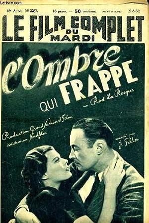 LE FILM COMPLET DU MARDI N° 2267. L'OMBRE QUI FRAPPE avec ROD LA ROCQUE: J. FILLIER