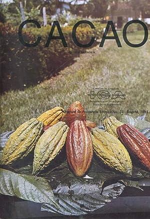 CACAO. MANUAL DE ASISTENCIA TECNICA N°23., BOGOTA, 1981: OVIDIO BARROS N.
