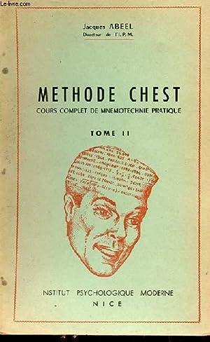 METHODE CHEST COURS COMPLET DE MNEMOTECHNIE PRATIQUE: JACQUES ABEEL