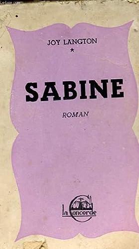 SABINE: LANGTON JOY