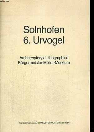 SOLNHOFEN 6. URVOGEL. ARCHAEOPTERYX LITHOGRAPHICA. BÜRGMEISTER-MÜLLER-MUSEUM: PETER ...