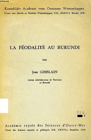LA FEODALITE AU BURUNDI: GHISLAIN JEAN
