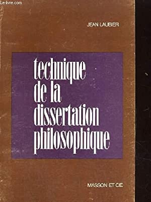 TECHNIQUE DE LA DISSERTATION PHILOSOPHIQUE: JEAN LAUBIER