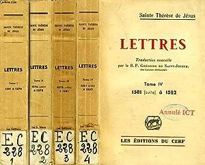 LETTRES, 4 TOMES: SAINTE THERESE DE JESUS, Par G. DE SAINT-JOSEPH