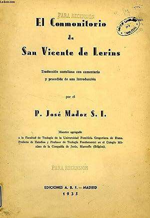 EL CONMONITORIO DE SAN VICENTE DE LERINS: MADOZ P. JOSE,
