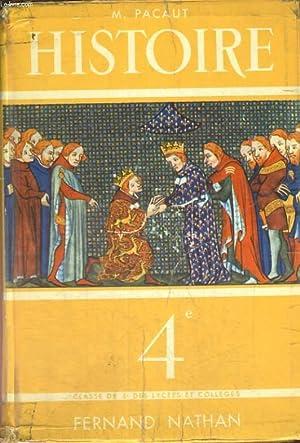 HISTOIRE. LE MOYEN AGE, DE 987 A 1492. CLASSE DE QUATRIEME. PROGRAMME 1957.: MARCEL PACAUT