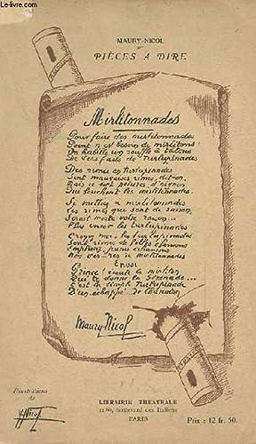 "PIECE A DIRE ""Mirlitonnades"": MAURY NICOL"