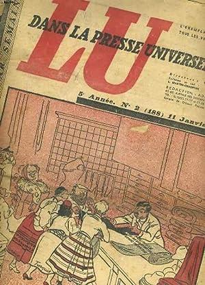 """LOT DE 35 NUMEROS DE L'HEBDOMADAIRE """" LU DANS LA PRESSE UNIVERSELLE"""" 5e ANNEE.: ..."""