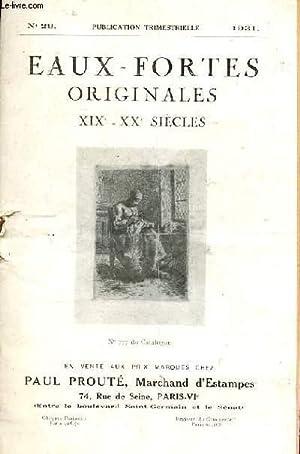 CATALOGUE DE VENTE AUX ENCHERES n°29 d'Eaux-fortes originales XIXe - XXe siècle: PAUL PROUTE