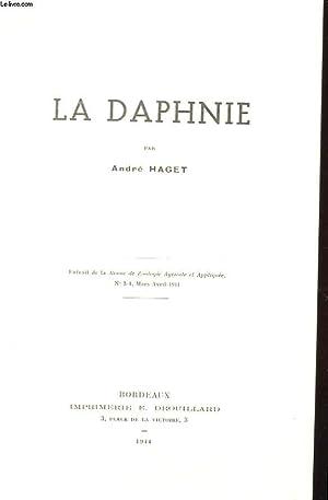 LA DAPHNIE : EXTRAIT DE LA REVUE DE ZOOLOGIE AGRICOLE ET APPLIQUEE N°3-4, MARS-AVRIL 1944.: ...